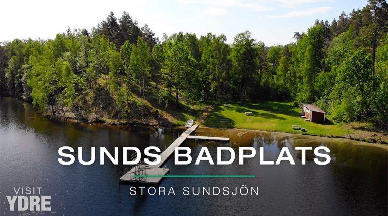Sunds Badplats, Stora Sundsjön, Ydre